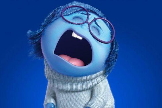 Personnage du film Vice Versa de Pixar, en train de pleurer, qui peut être une manifestation d'analphabétisme émotionnel