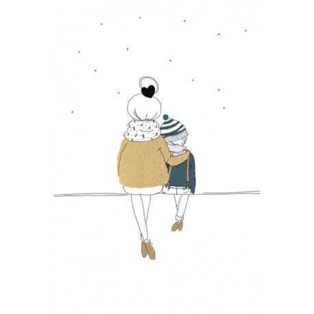 Illustration d'une maman et d'un enfant
