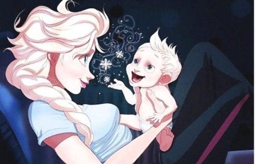 L'amour d'une mère lui permet de communiquer avec son bébé