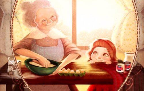 Grand-mère, raconte-moi encore ce que tu as ressenti quand tu m'as vu pour la première fois