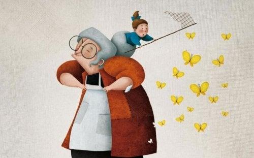 Une grand-mère peut être une autre maman