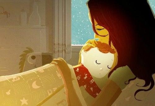 Mon bébé est de ceux-là... Il dort juste dans mes bras !