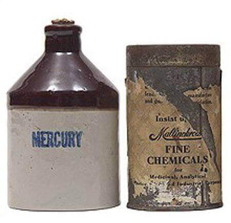 Mercure, qui était utilisé en Chine comme un moyen de contraception