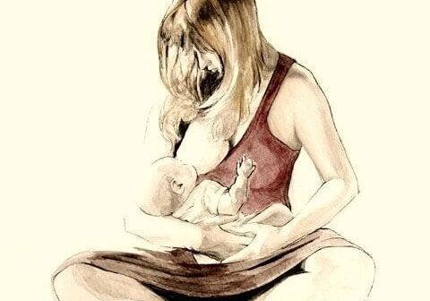 Une maman allaite son bébé