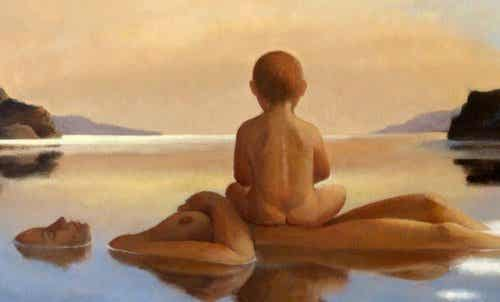 Maman, tiens-moi près de toi, près de ton âme... affranchi de mes peurs