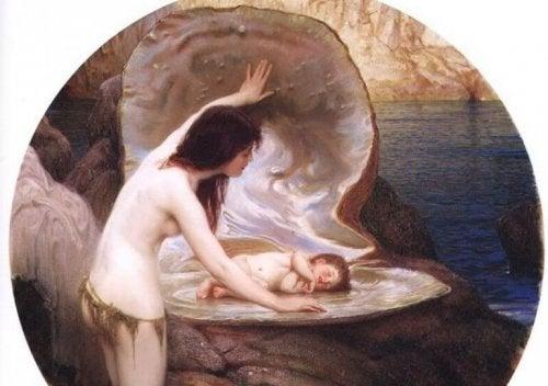 La nymphe découvre qu'elle va être mère.