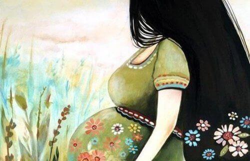 femme dans la nature