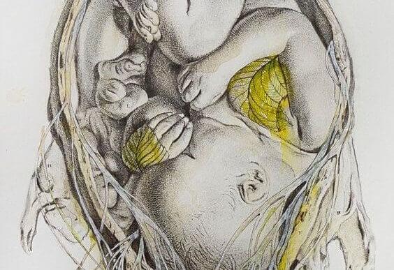 Une mère porte son enfant neuf mois dans son ventre de toute sa vie dans son coeur.