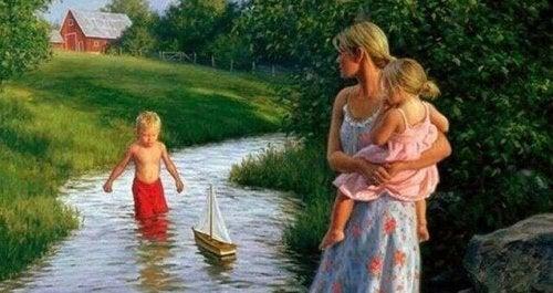 Mes enfants avant tout... Aujourd'hui, le reste du monde peut attendre