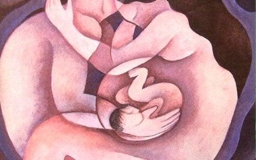 Illustration d'un couple dont la femme est enceinte