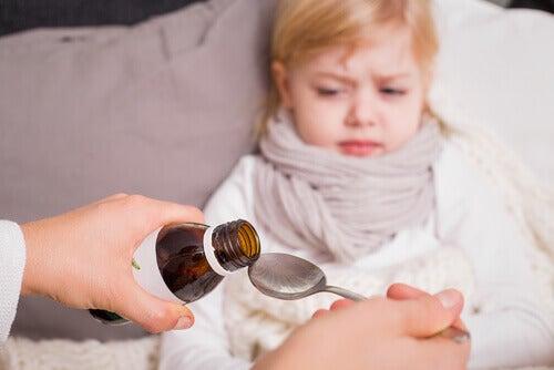 enfant malade médicament