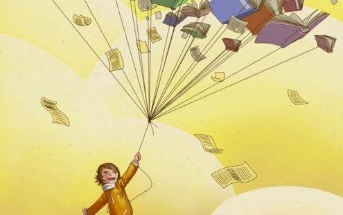 enfant avec des livres