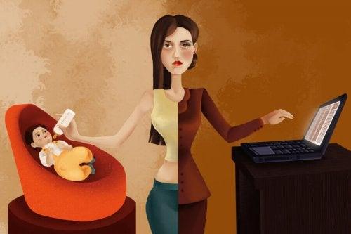 Une femme multi-tâche