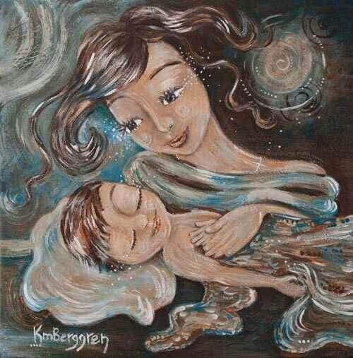Une mère aimante apprend à son enfant à gérer ses émotions.
