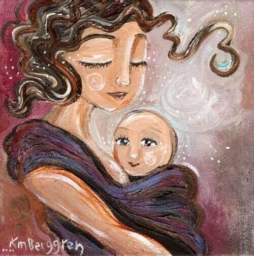 Une mère aimante renforce sa relation avec son enfant.