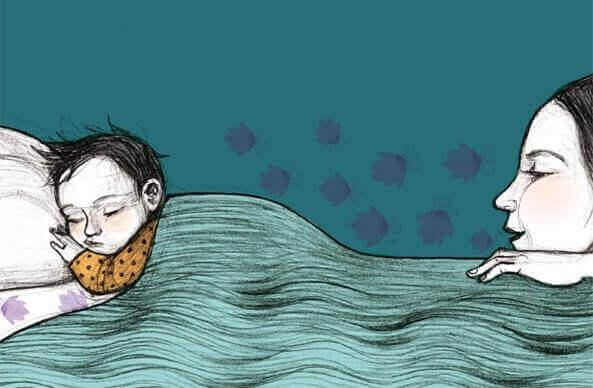 L'importance du coucher : maman qui regarde son enfant dormir