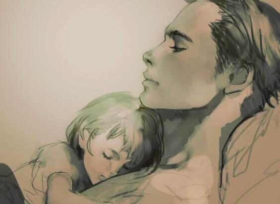 Partage d'affection et attachement entre une mère et son enfant.