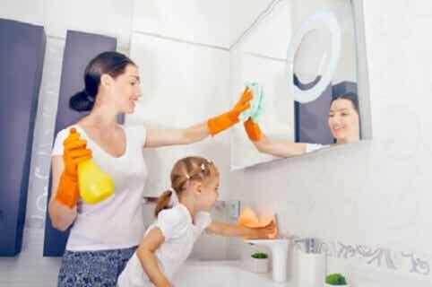 Les tâches ménagères en fonction de l'âge de l'enfant
