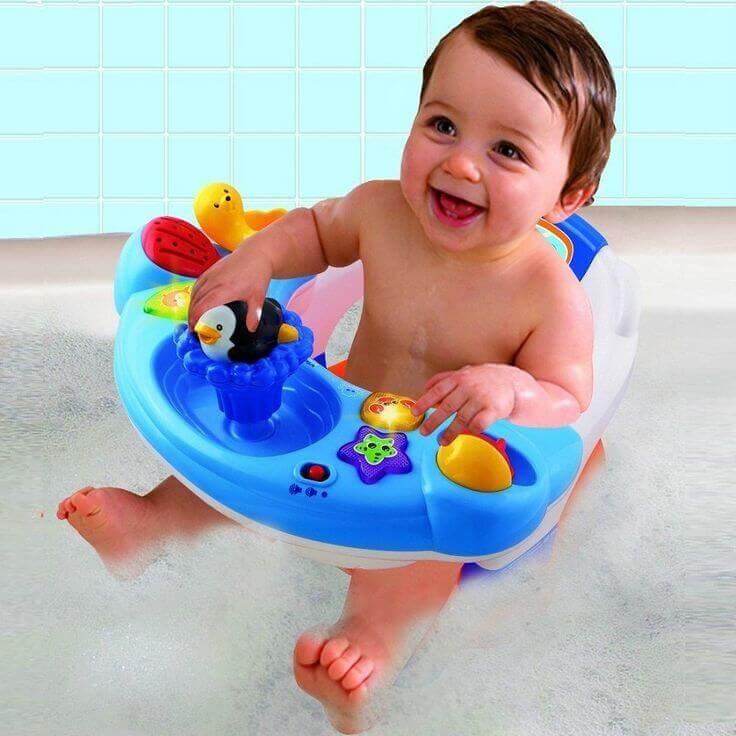 Le siège pour le bain garantit la meilleure sécurité pour votre enfant