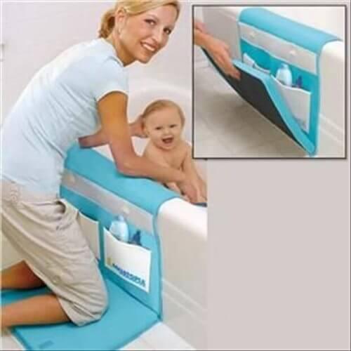 Le tapis-coussin pour la baignoire est plus conçu pour la maman