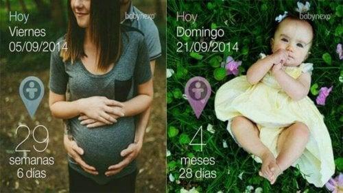 Cette application vous permet de légender vos photos de grossesse.