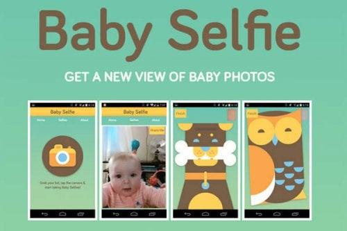 Baby Selfie est une application payante uqi vous permet de prendre votre enfant en photo.