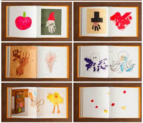 On peut créer un album avec les dessins de son enfant.