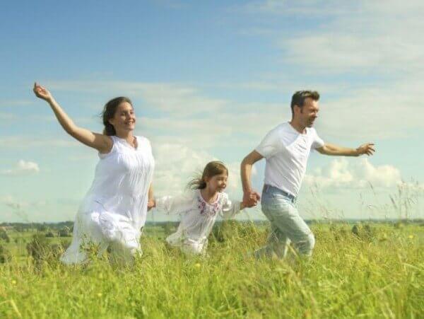 Le bonheur d'une famille unie