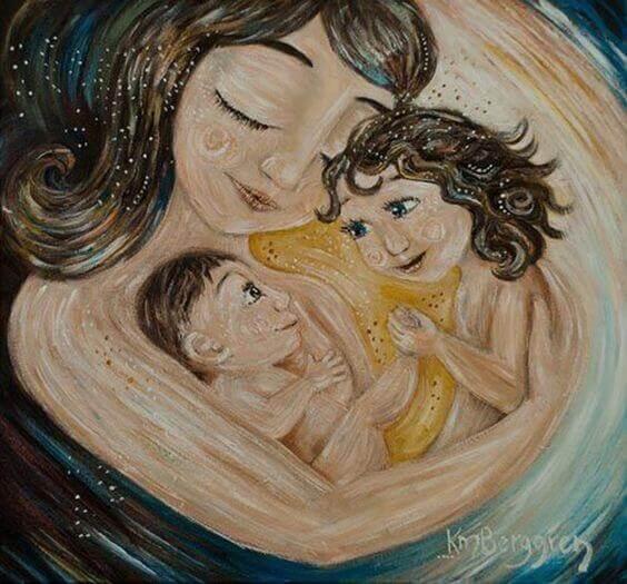 Donner de l'amour à un enfant nourrit la relation et augmente son estime de soi