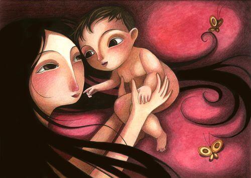 Quand on donne de l'amour à un enfant, il est important qu'il le sente
