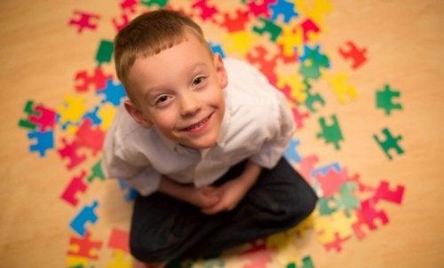 enfant étant autiste