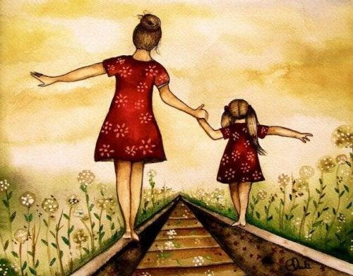 l'équilibre d'une bonne relation mère-fille