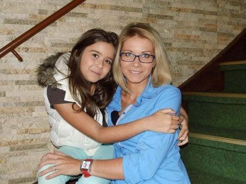 la confiance qui unit cette mère et sa fille