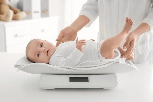 le pediatre releve la prise de poids du bebe