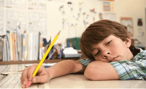 Un enfant fatigué