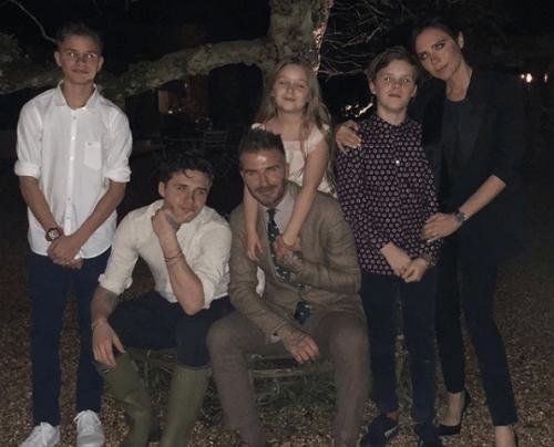 La famille nombreuse de David Beckham
