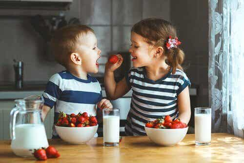 Tartes aux fruits pour les enfants