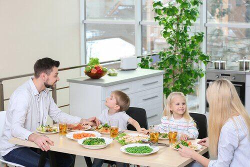 Repas vegan en famille