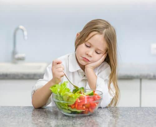 Excuses des enfants pour ne pas manger