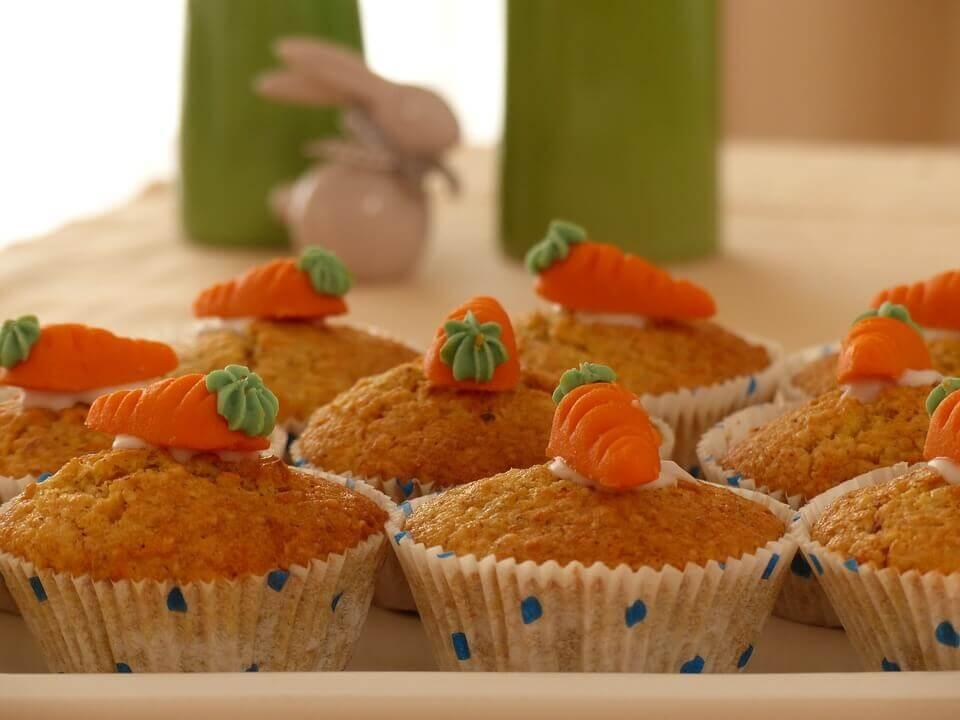 Les madeleines font partie des recettes avec des carottes préférées des enfants.