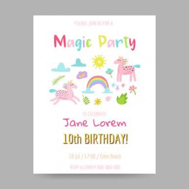 5 idées originales de carton d'invitation d'anniversaire