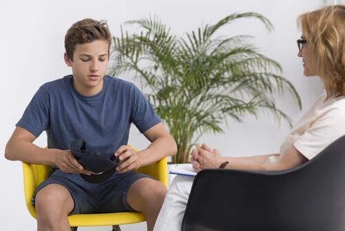 Un jeune lors d'une psychothérapie