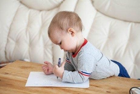 écriture chez les enfants
