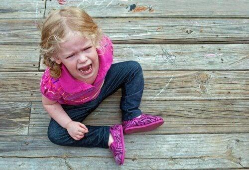 Image d'une fillette qui pleure