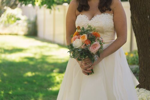 la robe blanche le jour du mariage