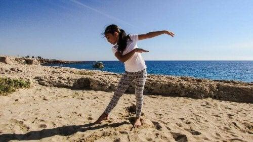 Sports de plage pour les enfants