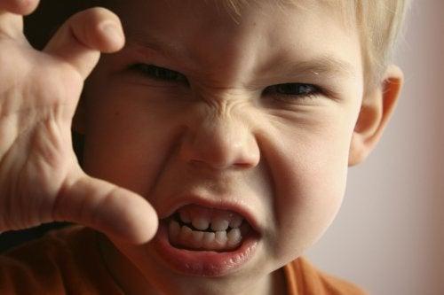 La colère est l'une des émotions basiques des enfants.