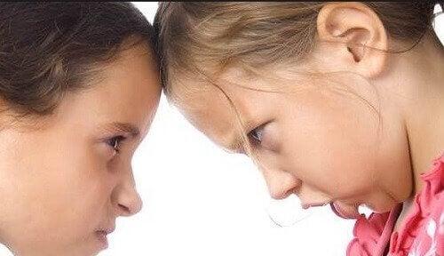 Il arrive parfois que les frères et soeurs s'entendent mal et se bagarrent entre eux.