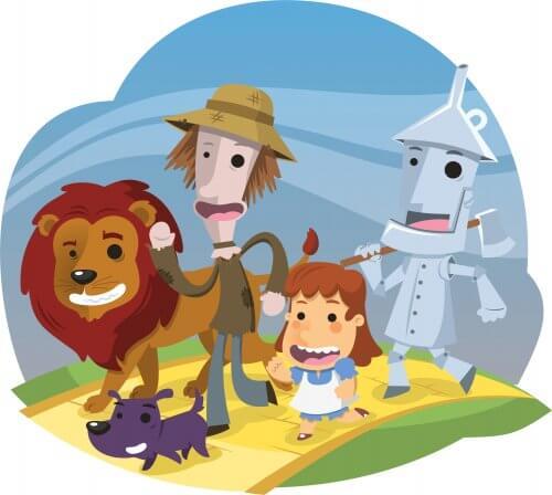 Le Magicien d'Oz, une des nouvelles pour les enfants adaptée en dessin animé.