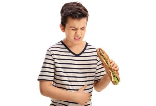 indigestion chez les enfants
